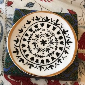 New Natural Life Trinket Dish- Be Happy
